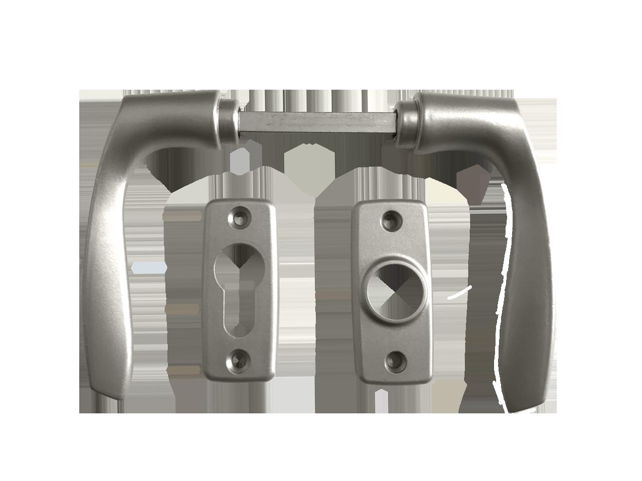 Door handle for metal doors
